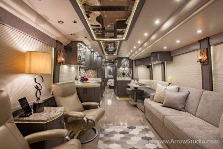 luxury coach interior photography