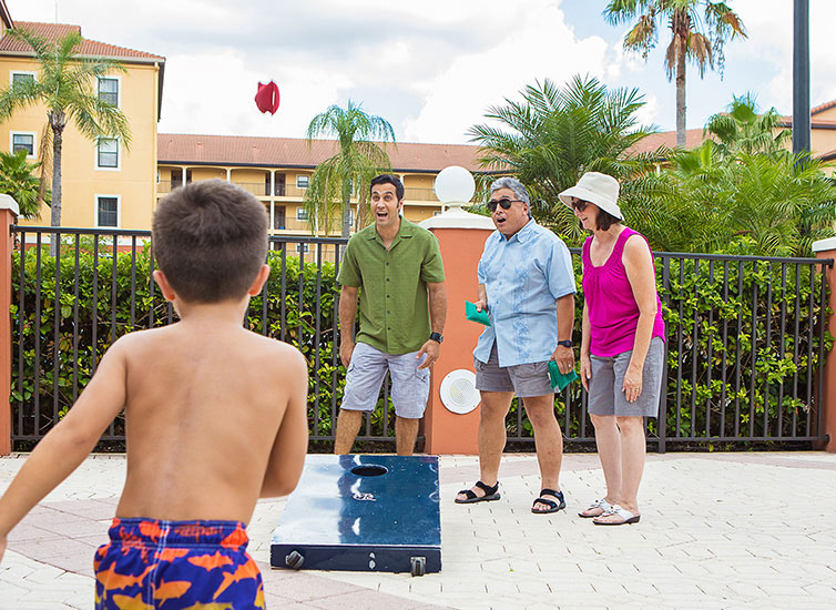 Family in an Orlando hotel in a lifestyle photo.